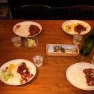 テーブルに配膳したランチ